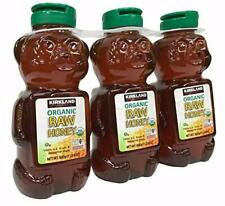 Kirkland Signature Raw Organic Honey Bear 24 oz, 3-count