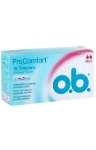 OB ProComfort Lady Tampons Intimаte Hygiene Mini/Normal/Super 16 pcs