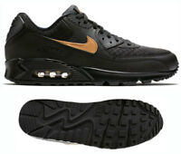 New NIKE Air Max 90 Classic Athletic Sneaker retro Mens black gold all sizes