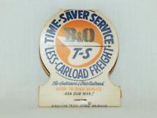 Vintage B&O Time Saver odd shaped MATCHBOOK Baltimore & Ohio railroadiana