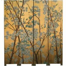 Oriental Screen - Pear Blossom on Gold Background Room Divider (SN4-WF)