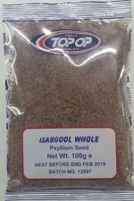 ISABGOL WHOLE  PSYLLIUM SEEDS 100G - TOP OP