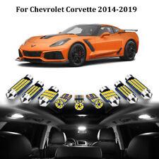6x White LED Interior Lights Package Kit For 2014-2019 Chevrolet Corvette C7