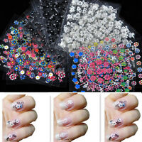 50 Sheets 3D Colorful Flower Decal Sticker Nail Art Manicure Tips DIY Decoration