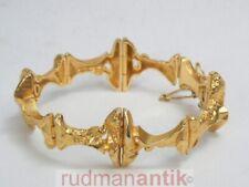 LAPPONIA FINNLAND ARMBAND massiv GOLD 585 - 18,5 x 2,3 cm - 44,9 g - signiert
