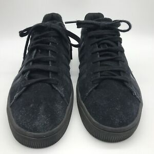 K Swiss Black Suede Trainers Court Style UK 8 EUR 42