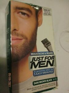 New Just for Men moustache and Bard Dark brown colourant