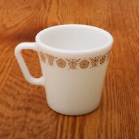 Vintage Corning Pyrex Corning Butterfly Gold Coffee Cup Mug D Handle