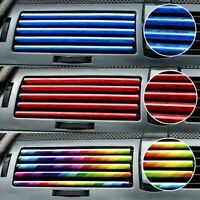 10x Auto Car Colorful Air Conditioner Air Outlet Decoration Strip Accessories