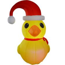 2m/6.56ft Inflatable Christmas Decoration Inflatable Yellow Duck with LED Lights