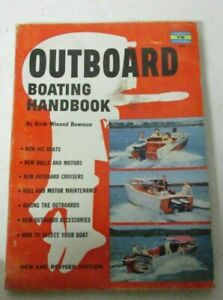 Vtg 1956 Fawcett book OUTBOARD MOTOR Boating Handbook New boats racing outboards