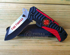 Navaja Rescate FIRE FIGHTER Knife Messer Coltello Couteau