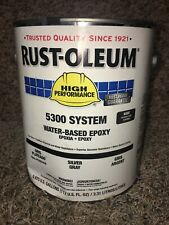Rust-Oleum 5382408 Silver Gray Epoxy Paint, Gloss Finish. 6A413