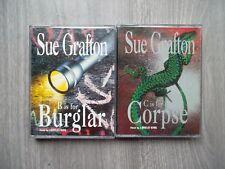 2X Sue Grafton audio book - B is for Burglar & C is for Corpse