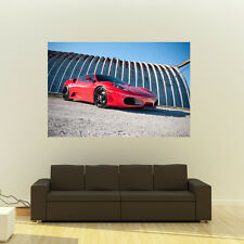 Poster of Ferrari F430 430 on 360 Forged wheels Huge 54x36 Inch Print