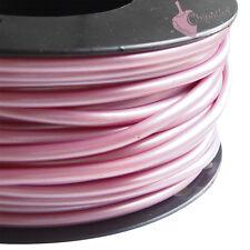 1 metro CORDONCINO PVC ROSA LILLA metallizzato caucciù forato 4 mm hollow cord