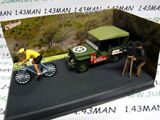IXO 1/43 diorama route bleue RN7 JEEP Willys MB course cycliste, vélo