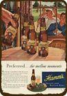 1947 MEN GOLF & DRINK HAMM'S BEER Vintage Look DECORATIVE REPLICA METAL SIGN