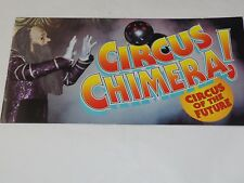 "CIRCUS CHIMERA Circus OF THE FUTURE Souvenir Program and Poster 18"" x 24"""