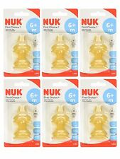 NUK First Choice Latex Teat Size 2 6-18 months Medium Hole (Pack of 6, Total 12)