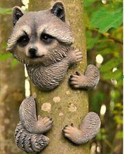Raccoon Tree Peeker Novelty Animal Branch Hugger Garden Ornament Decor Resin