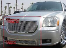Fits 2005-2007 Dodge Magnum Stainless Mesh Grille Combo