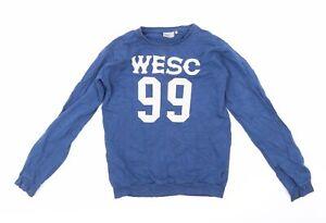 WeSC Mens Blue   Pullover Sweatshirt Size S