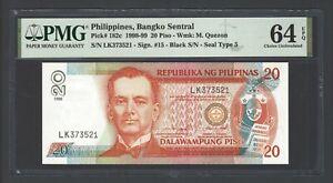 Philippines 20 Piso 1998-99 P182c Uncirculated Grade 64