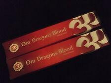 Om Dragons Blood Burning Premium Incense 2x15g Box Natural Fair Trade Sustainabl