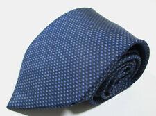 Hermes Paris 5237 SA Shape Pattern Blue Color Silk Necktie Tie Made In France