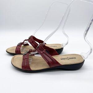 Minnetonka Silverthorne Embellished Braided Slip-on Sandals Red Size 9