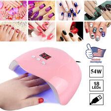 54W 18-Led Uv Nail Lamp Smart Sensing Gel Nails Polish Dryer Manicure Machine