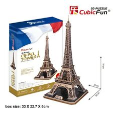 3D Puzzles Cardboard Eiffel Tower DIY Jumbo Sized Jigsaw Puzzle Toy MC091h