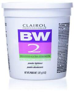 8 Oz Clairol Professional BW2 Tub Powder Lightener Extra Strength Hair Bleach