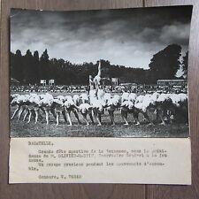 PHOTO DE PRESSE 1944 BAGATELLE GRANDE FÊTE SPORTIVE DE LA JEUNESSE