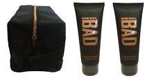 Diesel BAD for Men Shower Gel 100 ml x 2 Tubes = 200ml + Diesel Toiletry Bag