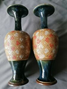Royal Doulton Pair of. Slaters Vases