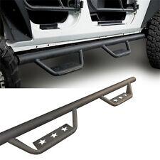 Side Step Armor Nerf Bars Running Boards For 07-18 Jeep Wrangler JK 4Door
