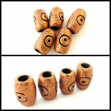 Ceramic Bronze Dread Bead, Dreadlock Bead, Handmade,8mm Hole, Dreadloc, Unisex