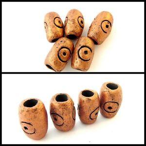 Ceramic Bronze Dread Bead, Dreadlock Bead, Handmade,8mm Hole, Dreadloc, Unisex