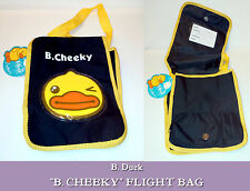B Cheeky FLIGHT MESSENGER BAG Black YELLOW WINKY DUCK Shoulder Strap CROSS BODY