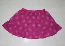 Gymboree Baby Girl Hot Pink Elastic Waist Floral Skirt 100% Cotton NWT Size 5T