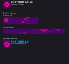 Destiny 2 BENEVOLENT HUE!!! NEW EMBLEM!!! AVAILABLE NOW!!!! INSTANT DELIVERY!!!!
