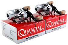 (LOT OF 2) QUANTUM VAPOR VP101HPT 7.0:1 GEAR RATIO LEFT HAND BAITCAST REEL