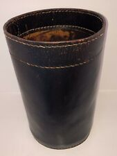 Adnet Auböck Hermès VINTAGE BROWN LEATHER BIN Waste Paper Basket