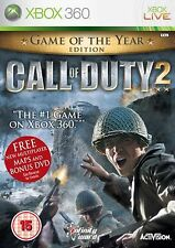 Call of Duty 2 Game of the  Year Edition Xbox 360 Video Game Microsoft XBOX360