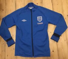 Mens England Football Fleece Lined Warm Football Training Drill Top Sweatshirt S