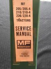 Genuine Massey Ferguson Mf 205 210 220 -4 4Wd Tractor Service Repair Manual Nice