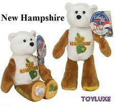 """LIMITED TREASURES NEW HAMPSHIRE 9th Collectible STATE QUARTER Coin BEAR 9"""" Plush"""