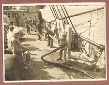 """Recalada"" Boat,  Men pumping water,  Spanish ? Foto Padilla, E.E.Haynes   JX588"